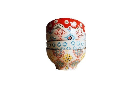 4 bols en céramique Bohemian