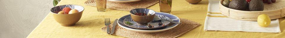 Mise en avant matière 4 sets de table Tizia en coton