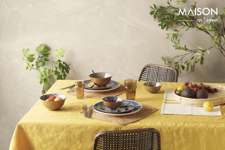 4 sets de table Tizia en coton Pomax