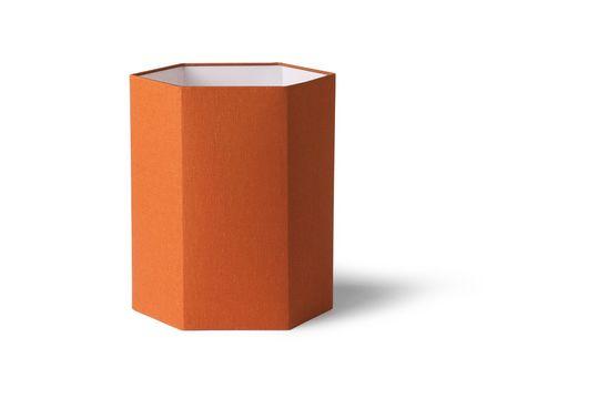 Abat-jour hexagonal Maltat en jute orange taille M Détouré
