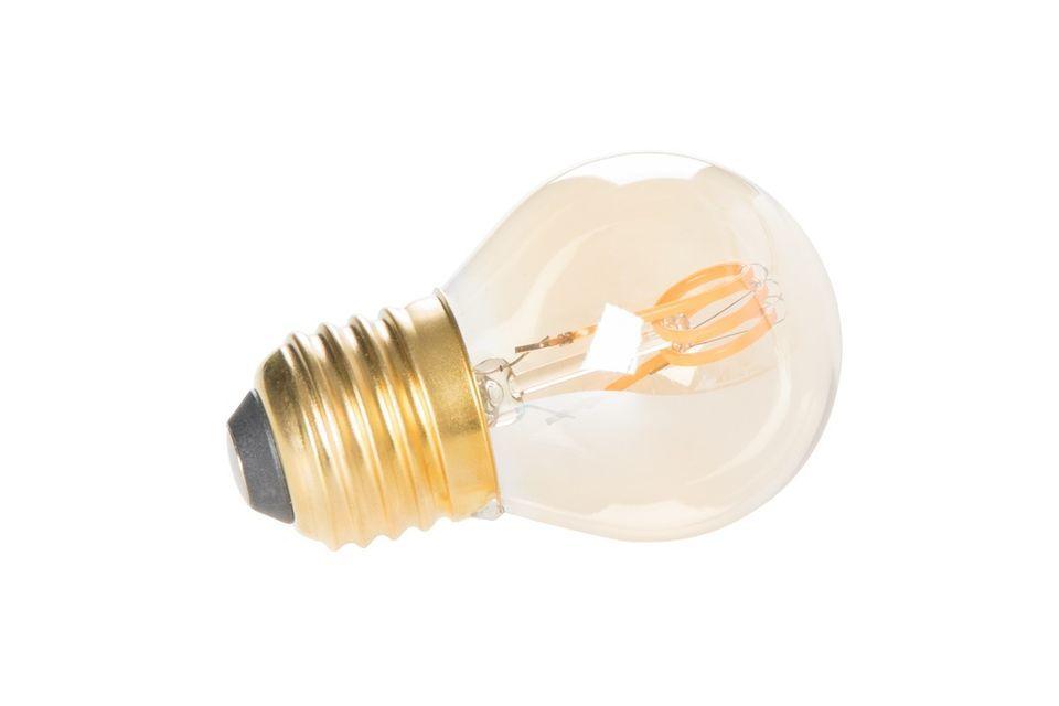 Illuminez votre intérieur d\'une lumière chaleureuse avec la petite ampoule classique or mini