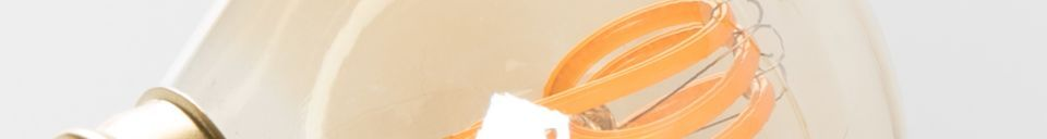 Mise en avant matière Ampoule Classic Gold Mini