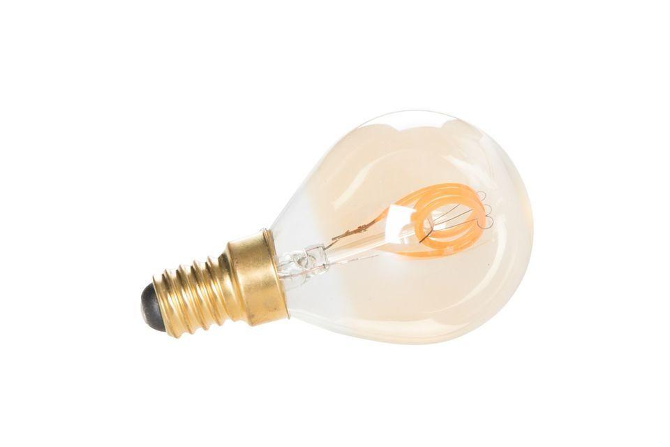 Cette ampoule en verre a la particularité d\'être conçue avec des filaments LED dorés