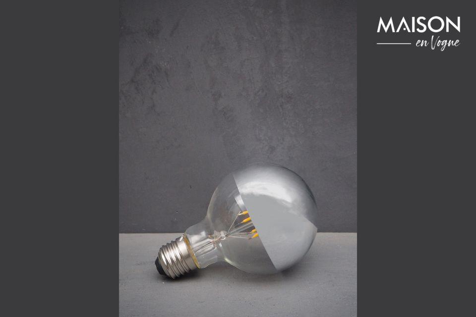 Ampoule E27 LED argentée Chehoma