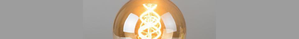 Mise en avant matière Ampoule Globe Gold taille L