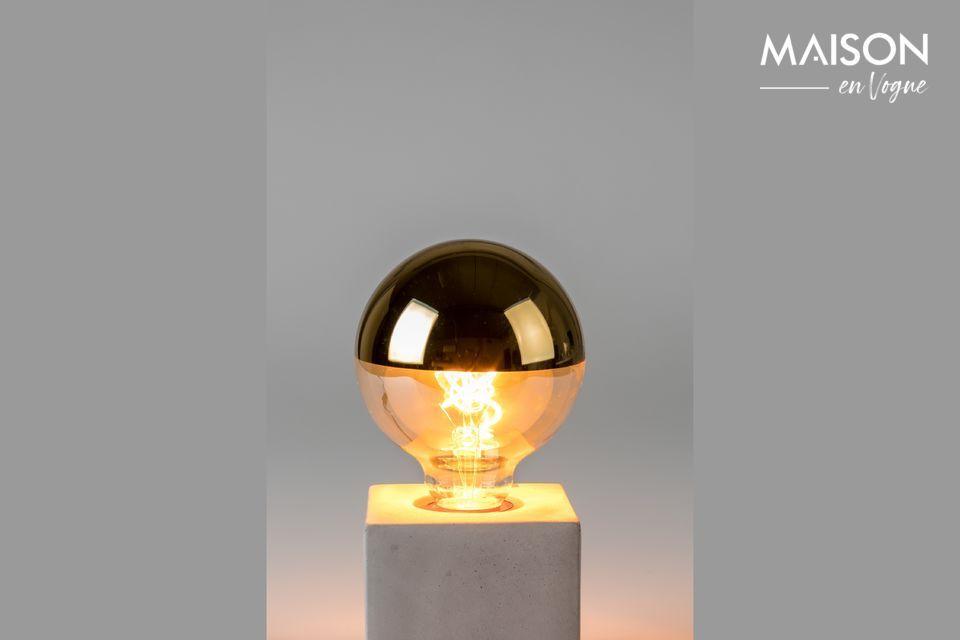 Ampoule Globe Miroir Or White Label