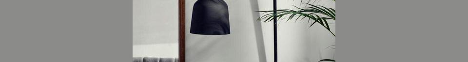 Mise en avant matière Applique murale City H 116 cm Noir mat
