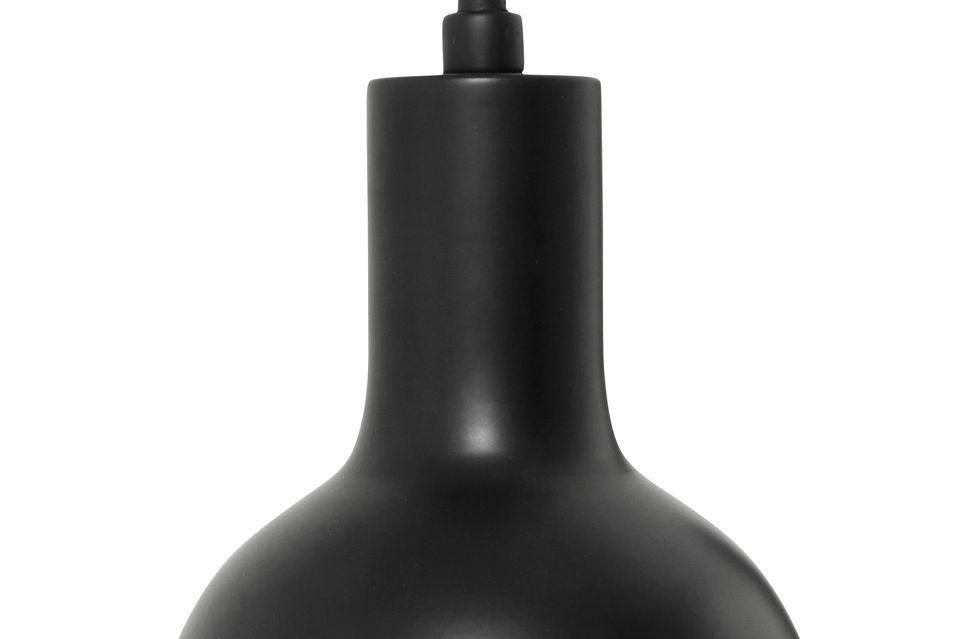Applique murale noire et lampe assortie