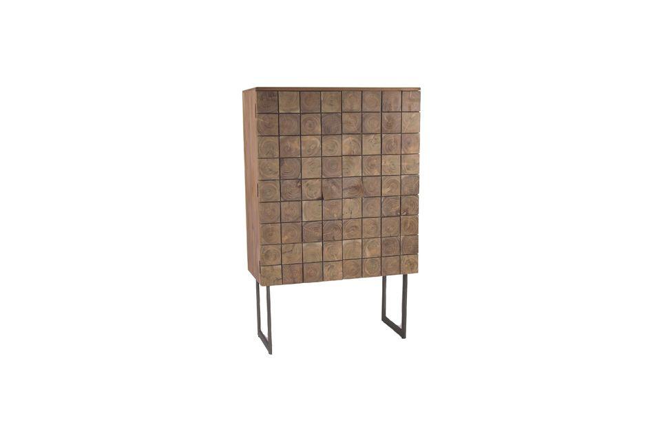 Mêlant avec audace l\'authenticité du bois et la modernité du métal