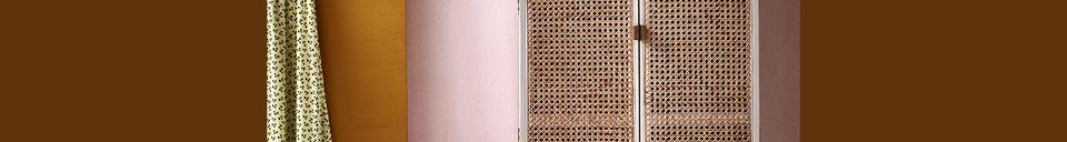 Mise en avant matière Armoire ovale rétro Gruny coloris gris clair