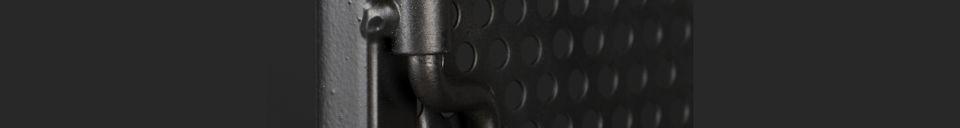 Mise en avant matière Armoire Texas en métal noir