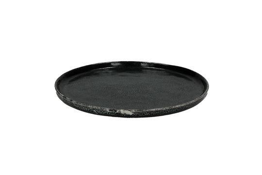 Assiette à dessert noire Porcelino Experience