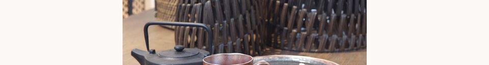 Mise en avant matière Assiette à dessert noire Porcelino Experience