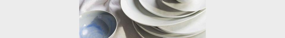 Mise en avant matière Assiette À Dessert Porcelino White