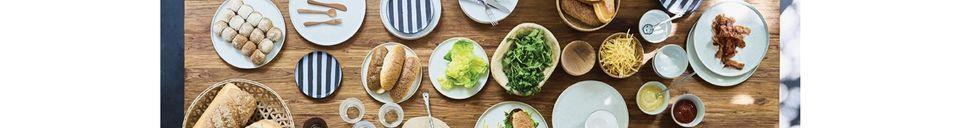 Mise en avant matière Assiette à dîner Vasselin