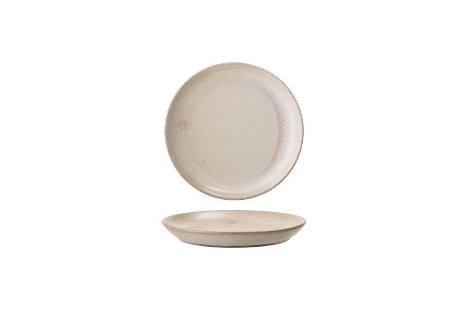 Cette magnifique assiette Columbine est fabriquée en grès à la main