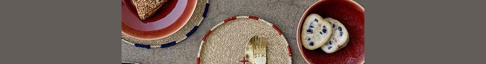 Mise en avant matière Assiette décorative Eloie
