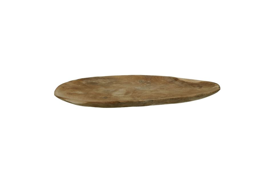 Donnez du caractère à la présentation de vos plats avec l\'assiette ovale Algarve conçue en bois