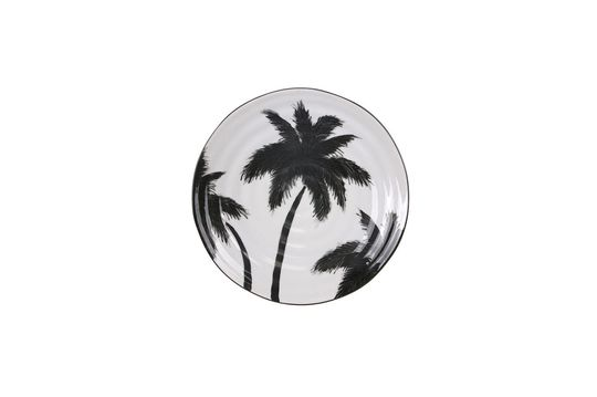 Assiette palmiers Fréthun en porcelaine Détouré
