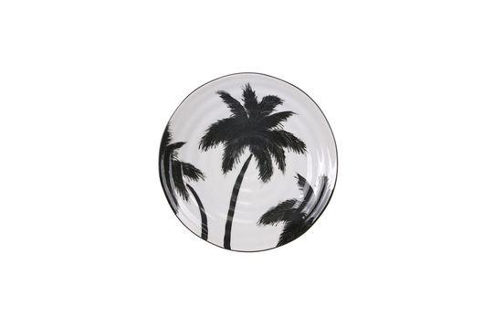Assiette palmiers Fréthun en porcelaine