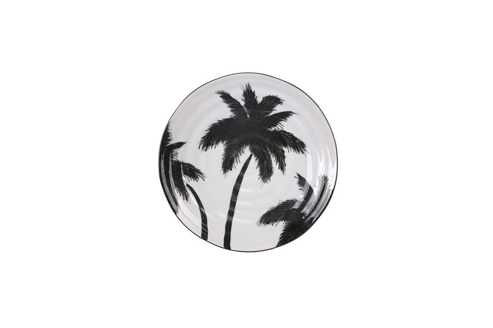 Assiette palmiers Fréthun en porcelaine HK Living