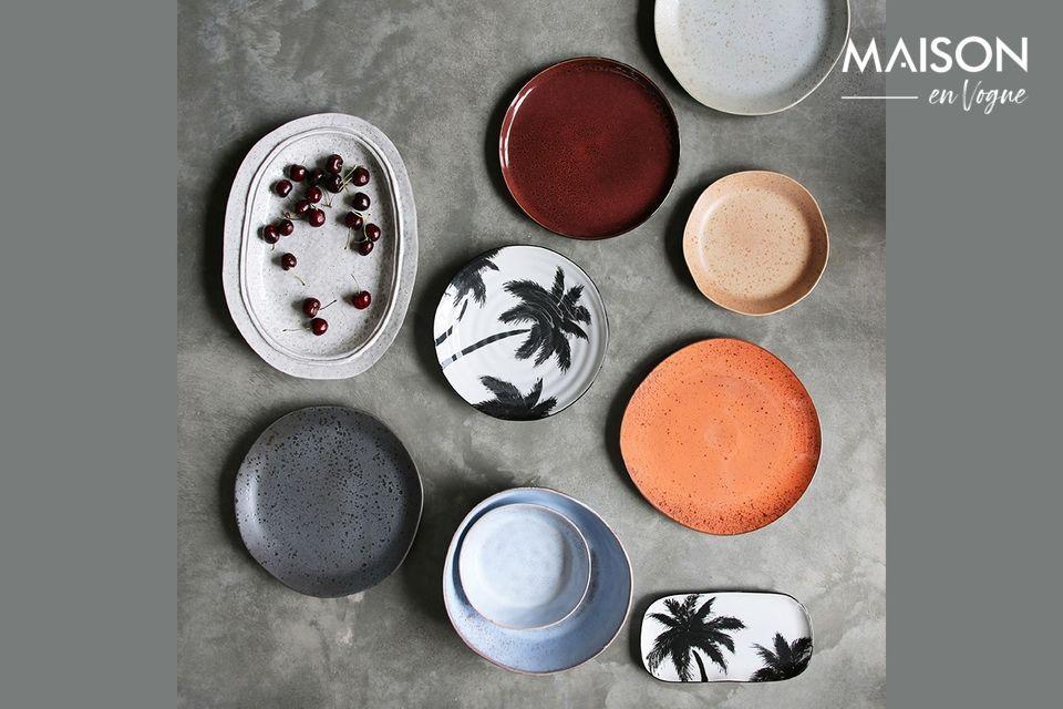 Effet tropical pour une assiette en porcelaine