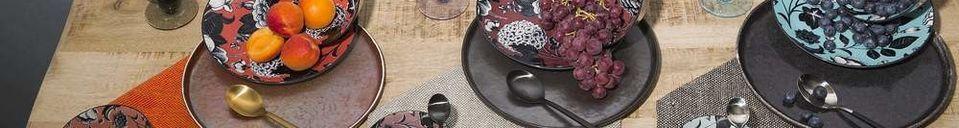 Mise en avant matière Assiette Plate Porcelino Experience