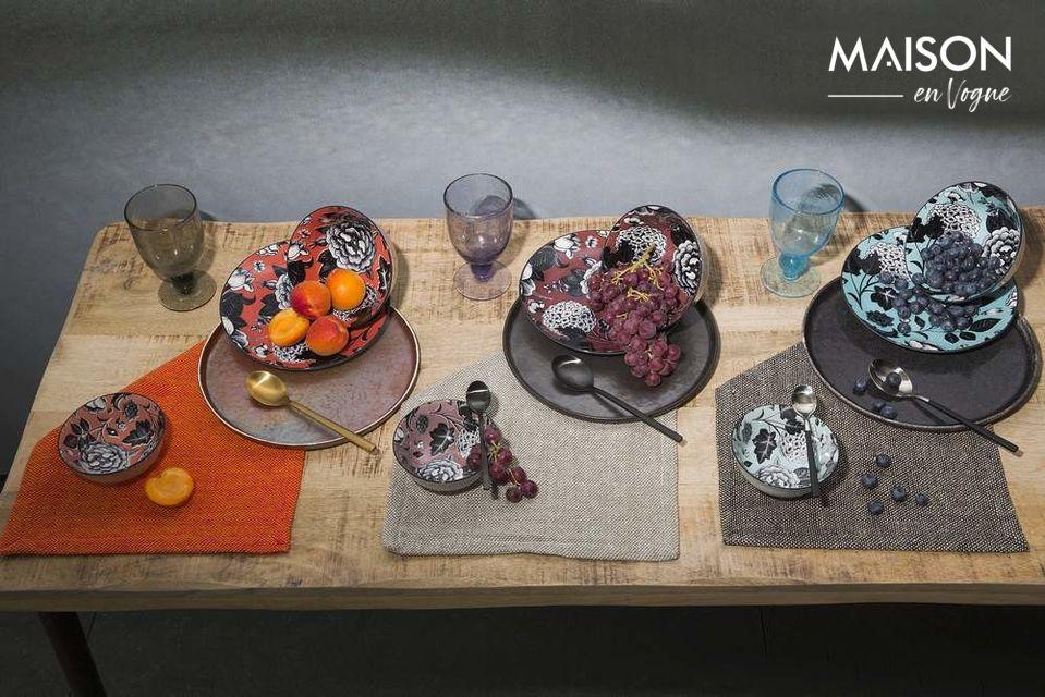Assiette plate Porcelino Experience noire