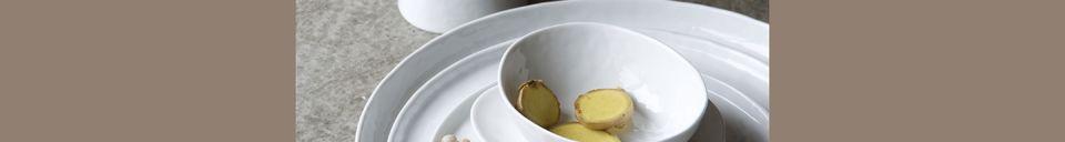 Mise en avant matière Assiette Plate Porcelino White en porcelaine 27 cm