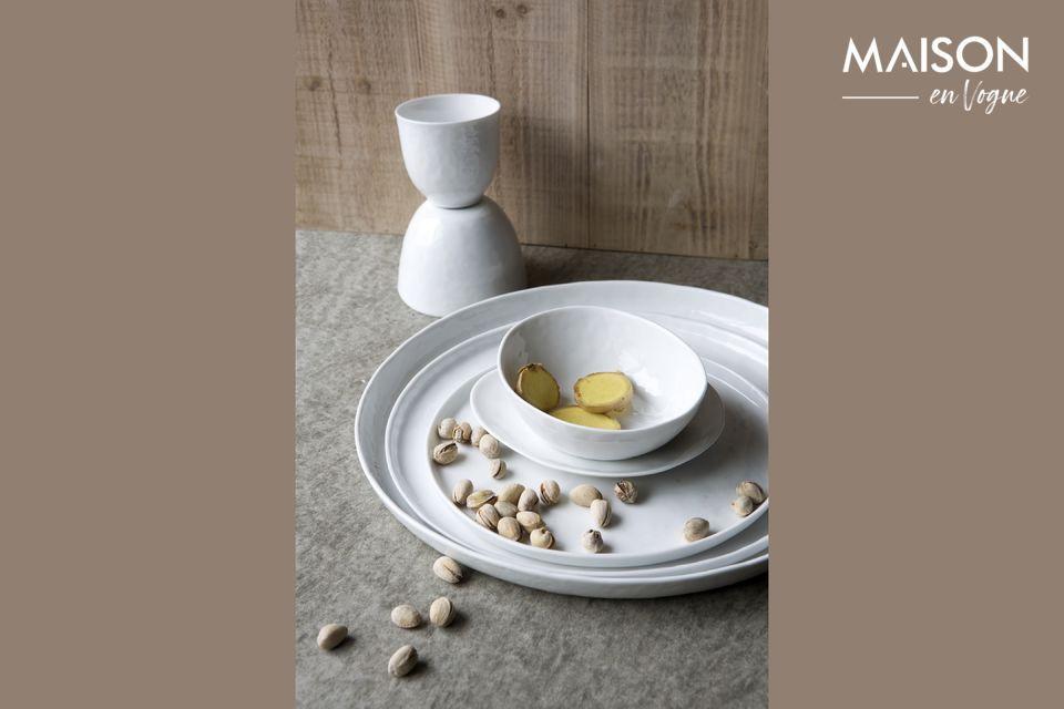 Assiette Plate Porcelino White en porcelaine 27 cm Pomax