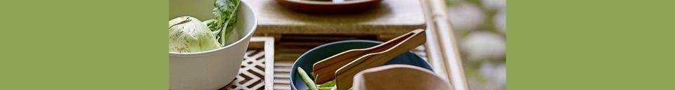 Mise en avant matière Assiette Rani en grès