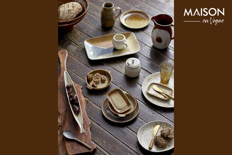 Une assiette en grès pour sublimer l'artisanat à table