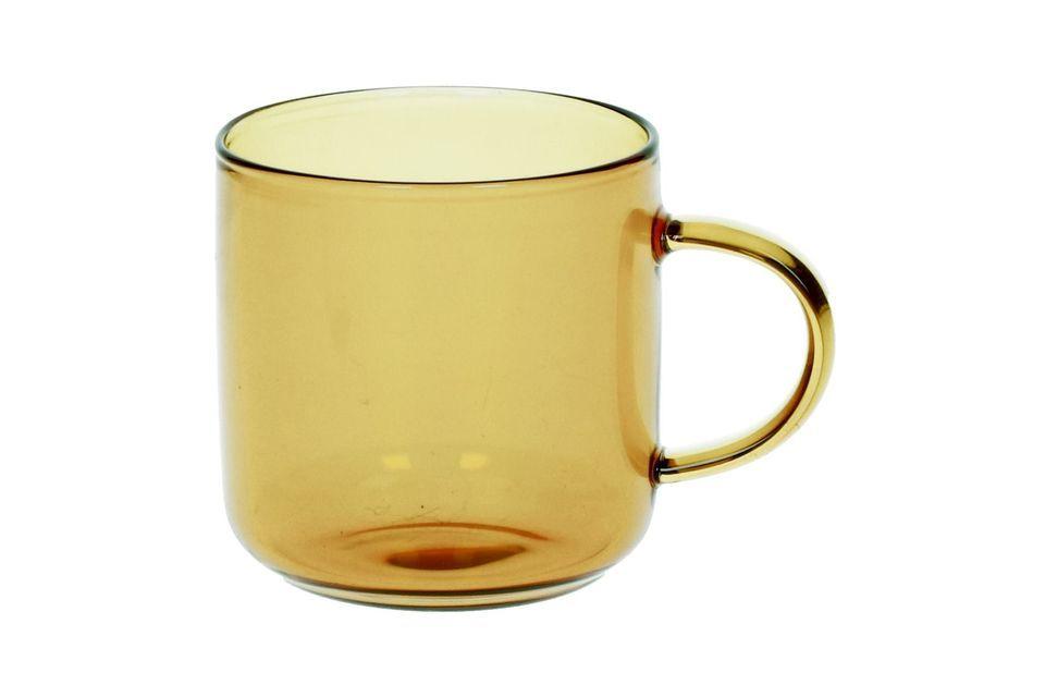 Boîte 4 Tasses Espresso Lasi jaune Pomax