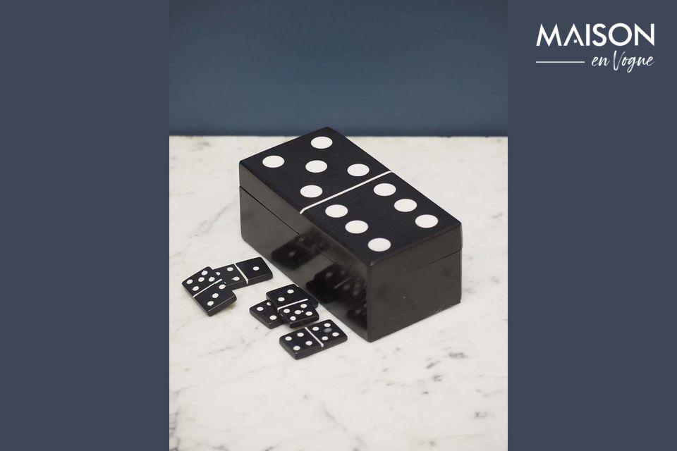 Boîte à dominos noire Payns Chehoma