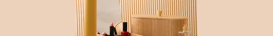 Mise en avant matière Boîte à miroir Curchy en bois de saule