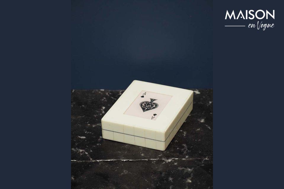Boîte blanche 2 jeux de cartes As de pique Chehoma