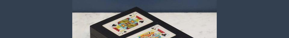 Mise en avant matière Boîte colorée de 3 jeux de cartes Rezza