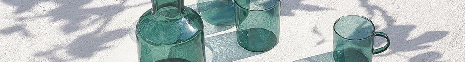 Mise en avant matière Boite de 4 tasses en verre borosilicaté Lasi