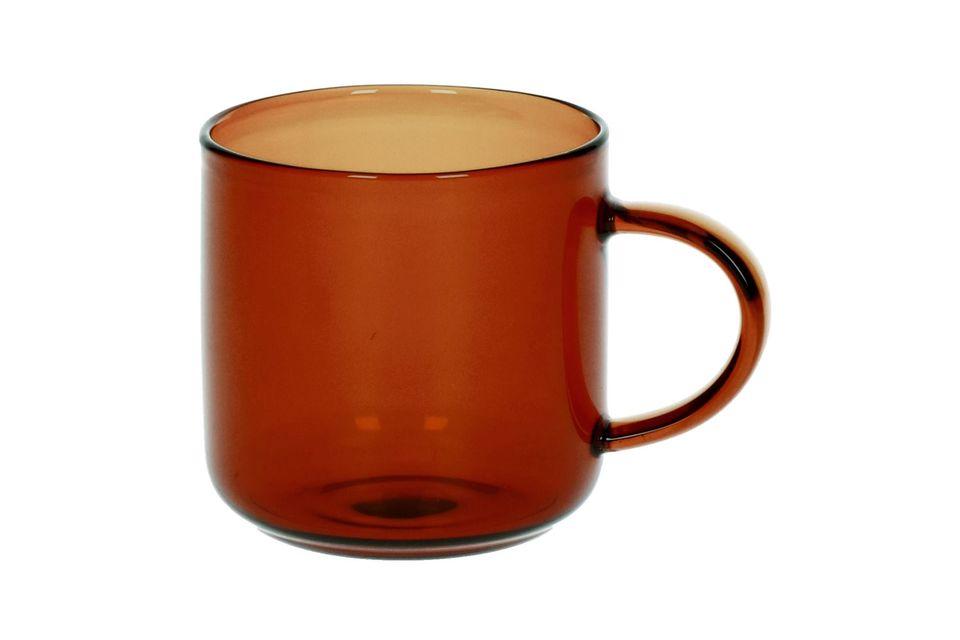 Boîte de 4 tasses espresso Lasi ambre Pomax