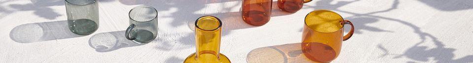 Mise en avant matière Boîte de 4 tasses espresso Lasi ambre