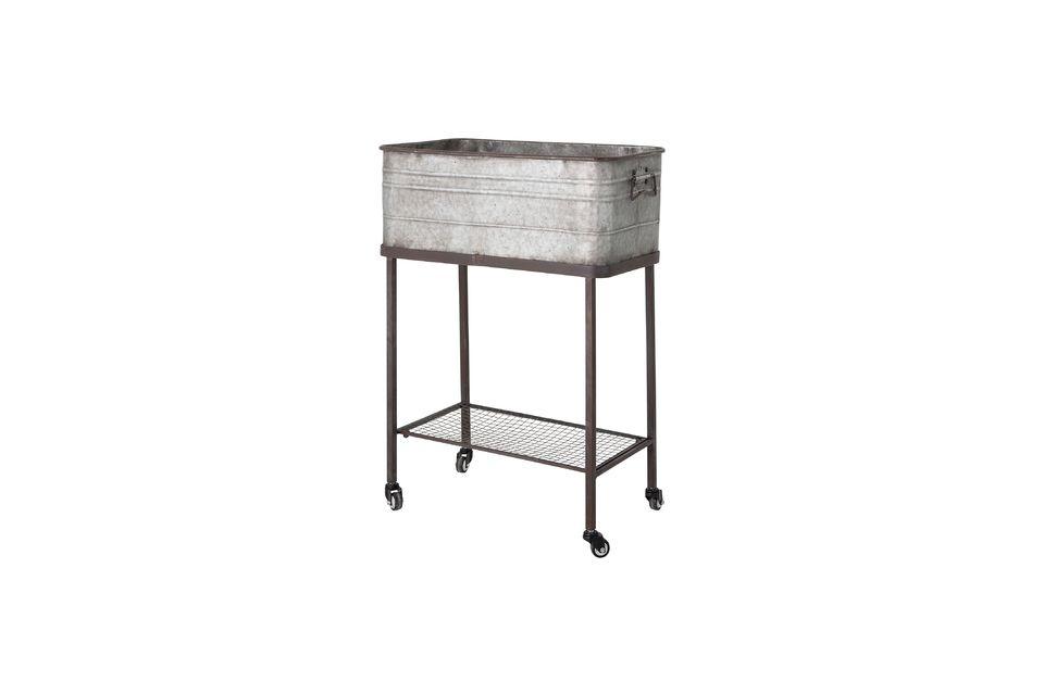 Cette boîte de rangement en métal aspect vieilli pourra accueillir toutes sortes d\'objets