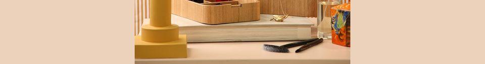Mise en avant matière Boîte de rangement Upie en bois de saule