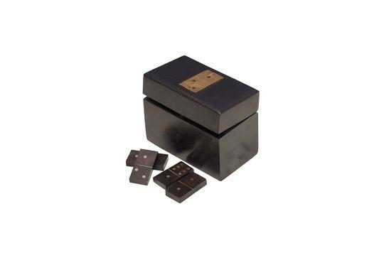 Boîte en bois à dominos Bouhey avec détails en laiton