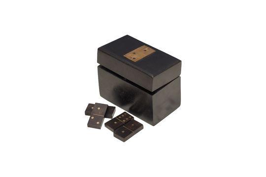 Boîte en bois à dominos Bouhey avec détails en laiton Détouré