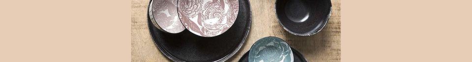 Mise en avant matière Bol à céréales Porcelino Experience