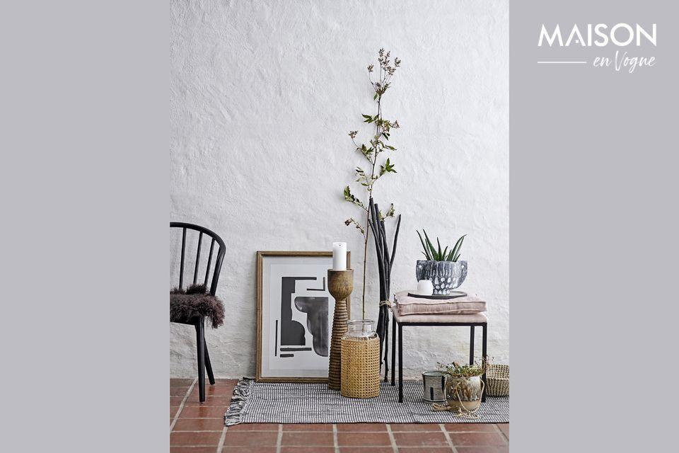 Ce bougeoir en bois de manguier sera une jolie touche déco pour votre foyer