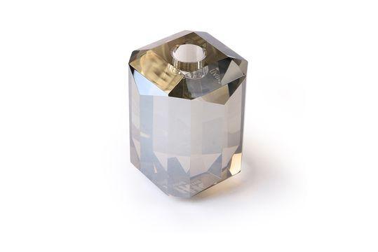 Bougeoir en verre Cristal diamant gris Détouré
