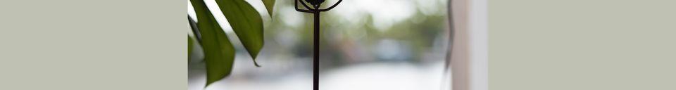 Mise en avant matière Bougeoir Gem et son agate jaune