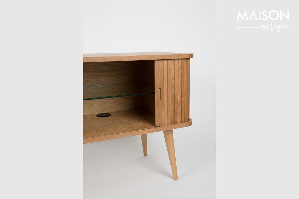 Il apporte à votre salon ou votre salle à manger une touche de chaleur avec son bois clair