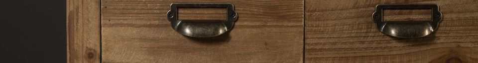 Mise en avant matière Buffet Six à tiroirs en bois